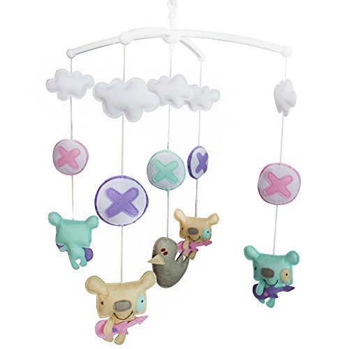 Jouets éducatifs Décor de chambre d'enfant Design cousu à la main décoration de lit de bébé cadeau musical pour nouveau-né Mobile musical pour 0-1 ans (Créatif # 01)