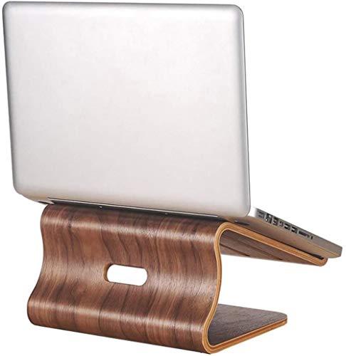 THBEIBEI Laptop Stand De Soporte del Estante Añade Aleación De Aluminio De Refrigeración Silenciosa Base De Refrigeración (Color : Walnut)