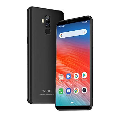 Offerte Cellulari Vernee X2, Android 9.0, Batteria 6350mAh, Display 6,0 Pollici, 3GB + 32GB, Espandibile da 128GB, Fotocamera 13MP + 5MP, Smartphone 4G, Face ID e GPS, Nero