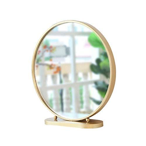 JXQ Miroir de salle de bains Miroir mural suspendu anti-buée Rond Miroir de salle de bains Perforation gratuite en bois Maquillage Miroir Décoratif Dressing Miroir en bois massif