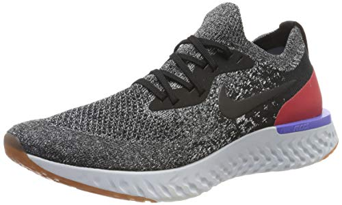 Nike Herren Epic React Flyknit Laufschuhe, Schwarz (Black/Black-White-Red Orbit 006), 44 2/3 EU