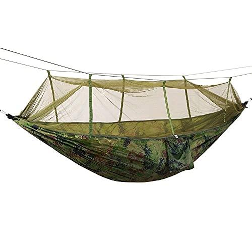 Hamaca para Acampar, Hamaca Hamaca para Acampar al Aire Libre Hamaca para Acampar al Aire Libre con mosquiteros Tela de Nylon para paracaídas Hamaca para Acampar Mejora Hamaca para Acampar (