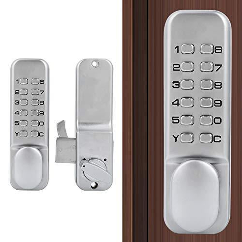 Kit serratura con codice meccanico, serratura a combinazione con accesso senza chiave per porta scorrevole in lega di zinco da 1-11 cifre, con funzione di ripristino, per balcone da cucina e ufficio