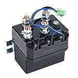 Vobor Relé de contactor de solenoide de cabrestante para 1500-5000lb ATV UTV Relé de cabrestante Solenoide eléctrico de contactor de cabrestante