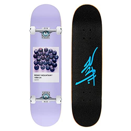 qiaoliang 31'x 8' Skateboards para Principiantes, Complete Pro Skateboard para Niños Boys Girls Youth, 7 Capas Maple Double Kick Skateboard para Deportes Al Aire Libre