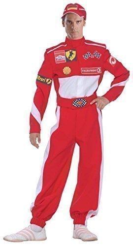 Fancy Me Herren F1 Rennauto Fahrer Sport Kostüm Kleid Outfit