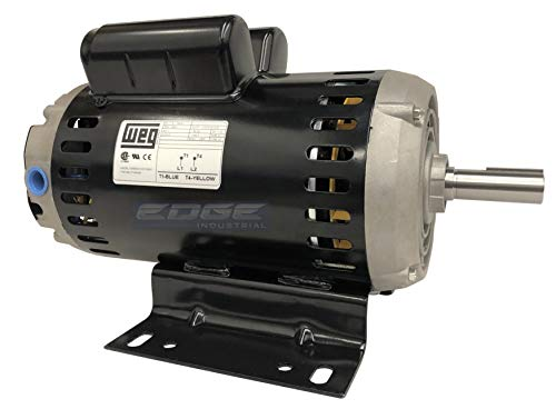 6.4 HP Electric Motor 23 AMP 7/8' Shaft Diameter 3450 RPM 240 Volt for Compressor WEG 00636OS1XCD182/4Y