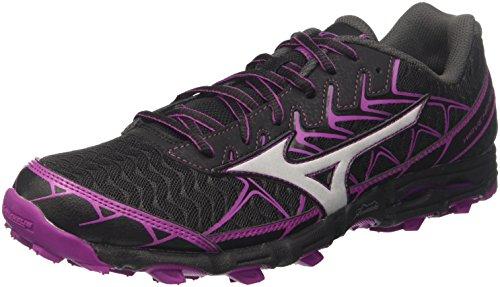 Mizuno Wave Hayate 4 Wos, Zapatillas de Running Mujer, Multicolor (Black/Silver/Clover 03), 37 EU
