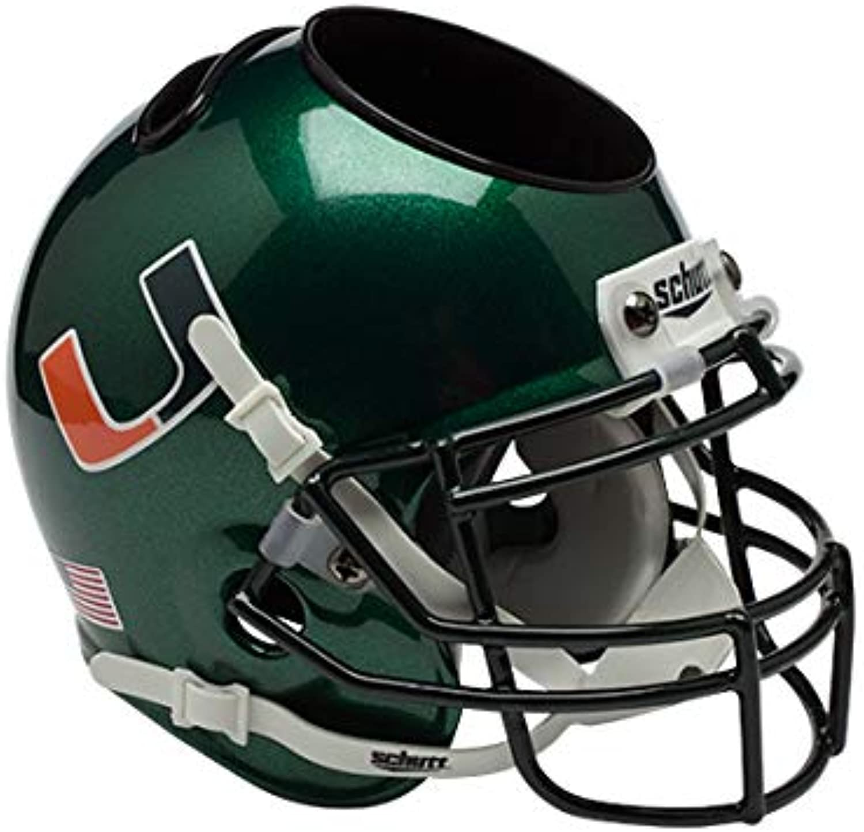 NCAA Miami Hurricanes Helmet Desk Caddy, Dark Green