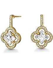 Mestige Women's Gold Plated Plum Blossom Smart Earrings - PMER1008