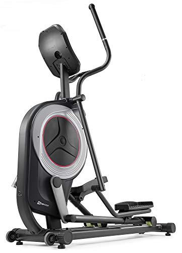 Hop-Sport HS-100C Elliptical Crosstrainer mit Unterlegmatte - Ellipsentrainer mit App-Steuerung, 12 Programmen und HRC-Modus, Profi-Qualität Ergometer max. Benutzergewicht 150kg schwarz