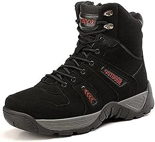 RICHEST - - Fotwear Genuine Leather Men Ankle Boots Leather Combat Shoes Outdoor Boots Men Desert Shoes 40-47 Camel Mens W...