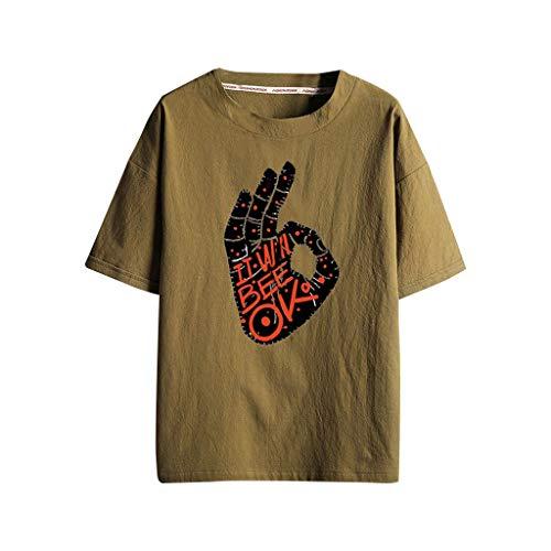 ODRD T-Shirts für Men Sportswear-Shirts & Tops für Herren Streetwear für Herren | Herren-Unterhemden Cotton Linen