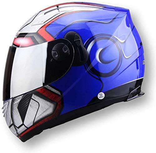 Wzglod cara completa hombres casco casco de motocicleta doblete NENKI830 Spiderman casco de la motocicleta,BlueIronMan,METRO