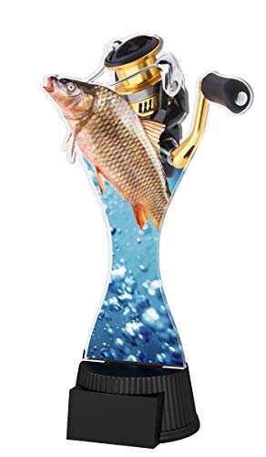 Trophy Monster - Plato de Pesca (190 mm), diseño de trofeos