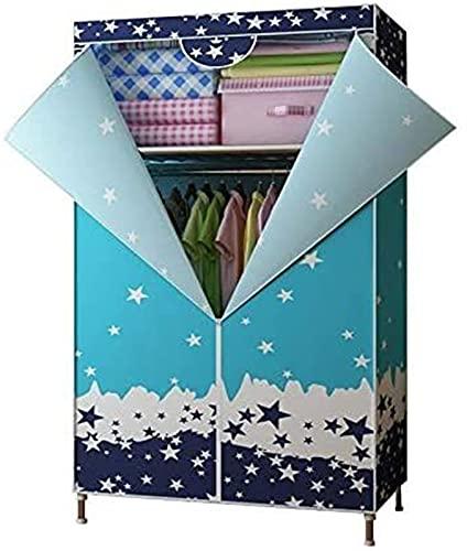 Armario Sin instalación Plegable Moderno Dormitorio Familia Dormitorio Arte Arte Arte Mueble Alquiler de Marco de Acero Sala Simple Dormitorio Paño Ward FANJIANI