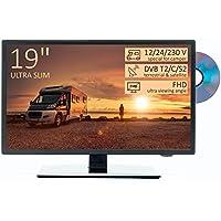 "TV HD 19"" para Autocaravana - DVD/USB/Ci+/Hdmi - 12/24/230V - Vesa - Ultra Slim Design"
