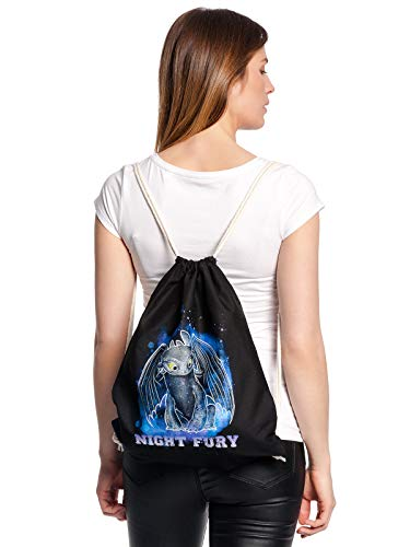 Dragons Night Fury Bag black, Größe:onesize