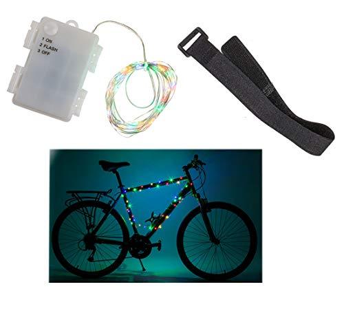 MIK Funshopping Outdoor-Lichterkette mit 60 LED für Fahrrad-Rahmen spritzwassergeschützt