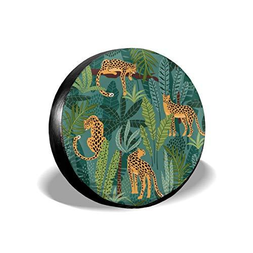 Beth-D bandenafdekking Vestor patroon naadloos luipaard en tropisch wiel band vervanging bandbescherming UV 14 - 17 inch