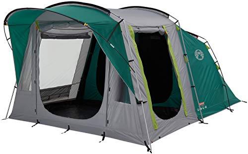 Coleman Oak Canyon 4 Zelt, 4 Personen Tunnelzelt mit nachtschwarzer Schlafkabine, 4 Mann Familienzelt, wasserdicht WS 4.500 mm