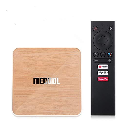 Mecool KM6 Deluxe ATV Google Certificado Android 10 Amlogic S905X4 AndroidTV 10.0 Dual WiFi 6 1000M 4GB 64GB 4K HDR H.265 Media Player con teclado inalámbrico i8