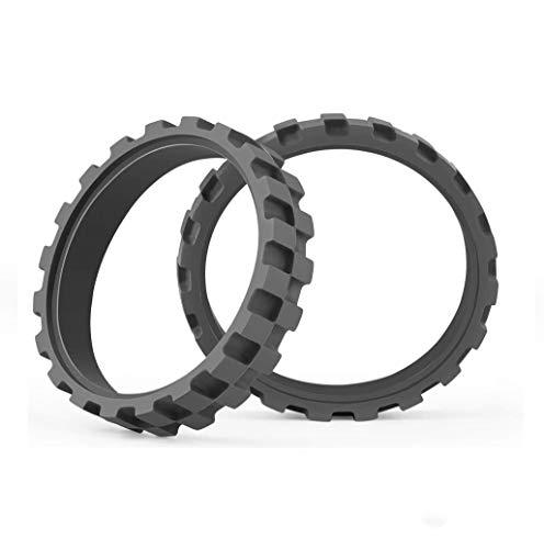 POLANGタイヤホイール、IROBOT ROOMBAシリーズ500、600、700、800、900用E5 I7 S9(2パック)滑り止め、優れた接着性、簡単な組み立て。 すべてのルンバモデルの交換 (グレー)