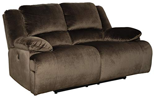 Signature Design by Ashley Clonmel Reclining Power Loveseat Chocolate
