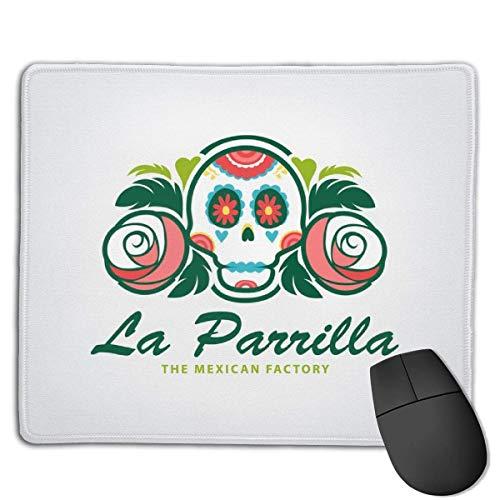 Mousepad Mexican Skull Logo Vorlage Vektor-Illustration Soft Cloth Gaming Mouse Pad mit glatten rutschfesten Basis