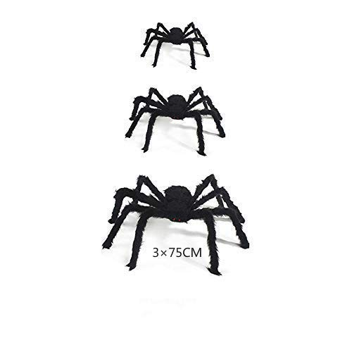 3 Pezzi Halloween Creepy Giant Spider Decor, 75cm Spaventoso...