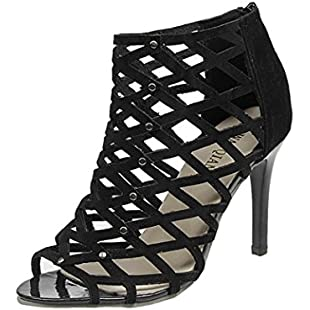 Clearance Sale!OverDose Women's Fashion Peep Toe High Heels Shoes Rivet Roman Gladiator Sandals