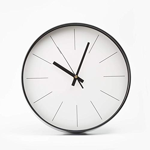 No Number Quiet Wall Clock Suitable for Study/Public Place/Office/Bedroom/Living Room/Bathroom/Bathroom Wall-Mounted Silent Hanging Seconds Movement (White,12 Inch)