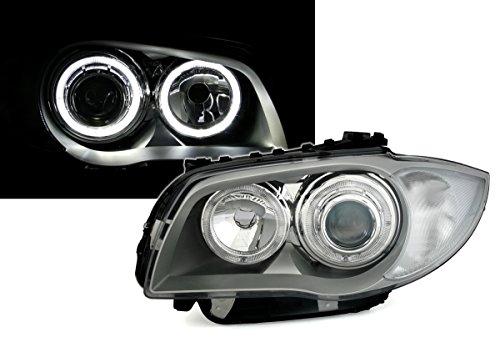 AD Tuning DEPO Angel Eyes Scheinwerfer Set Klarglas Silber mit weiàŸen LED Standlichtringen