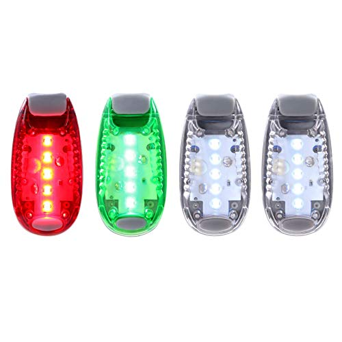 4pcs Navigation lights for boats Kayak, LED Safety Light with 3 Types of Flashing Mode, Easy Clip-On Light Kit for Boat Bow, Stern, Mast or Paddles, Pontoon, Yacht, Motorboat, Bike Tail Light