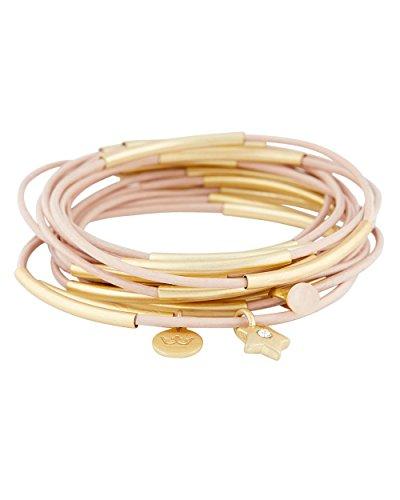 SENCE Copenhagen - Urban Gipsy, braccialetto, diversi colori, 15 anelli, Placcato oro, colore: Rosa - vergoldet, cod. F481