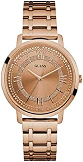 Guess Women's Rose Gold Dial Stainless Steel Band Watch - W0933L3