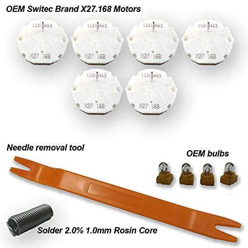 Stepper Motor Repair Kit by Dr.speedometer (6 Motor kit) - X27 168 - Fits All 03, 04, 05, 06 Chevrolet Silverados, Tahoes, Yukons, Suburbans + Includes Video How-to Tutorial