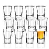 Vikko Schnapsgläser, 28,3 ml, 12 Stück kleine Likör- und Spirituosen-Gläser – langlebige Tequila-Bar-Gläser für Alkohol und Espresso Shots – 12-teiliges Mini-Shooter-Glas-Set (Cheerio – 28,3 g)