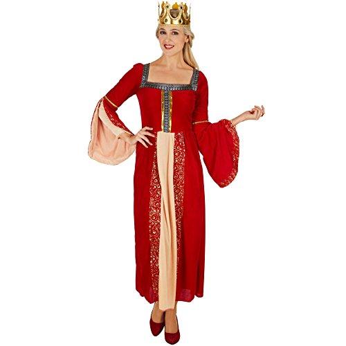 TecTake dressforfun Frauenkostüm Königin   Aus wundervollem, schimmerndem Pannesamt   Traumhaftes Königinnen-Kleid   Besondere Trompetenärmel (L)