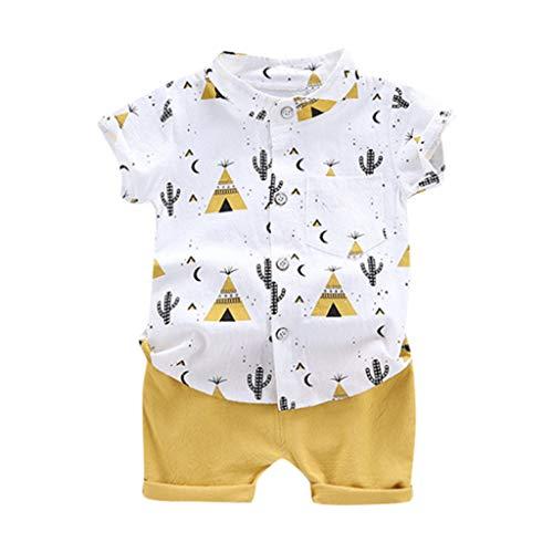 Allence Infant Baby Jungen Kleidung Set Cartoon T-Shirt Tops + Shorts Hosen Pants Sommer-Outfits 1-6 Jahre