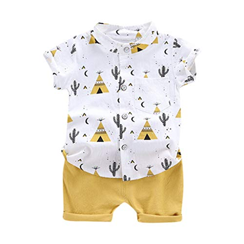 Allence Infant Baby Jungen Kleidung Set Cartoon T-Shirt Tops + Shorts Hosen Pants Sommer-Outfits 1-6 Jahre