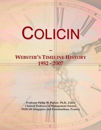 Colicin: Webster's Timeline History, 1952 - 2007