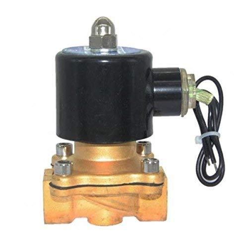 ShiSyan DC 24V 1/2 '' de latón Válvula electromagnética eléctrica (NC) for Combustibles Aire Agua Gas, Heavy Duty Válvulas