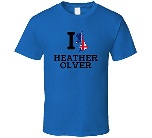 Tobey Susan I Love Heather Olver Great Britain Badminton Olympics T Shirt Large