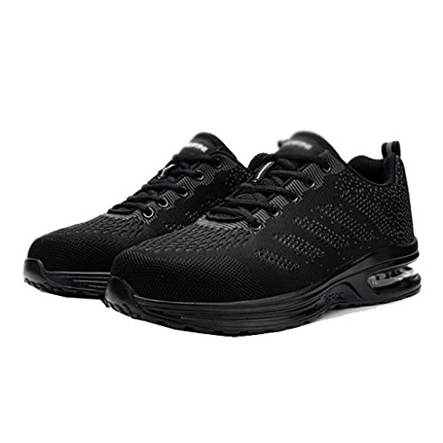 Zapatos de Trabajo Terreno Trabajo Damas Zapatos de Trabajo Verano liviano liviano cojín Aire Acero Toe Toe Entrenadores Transpirables industriales de Seguridad de Seguridad (Color : B, Size : 39) 🔥