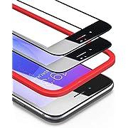 BANNIO Pellicola protettiva per iPhone 7 Plus/iPhone 8 Plus,[Telaio di installazione Incluso],[2 Pacco]Pellicola Vetro Temperato Full Screen con Alta trasparente,3D-Touch per iPhone 7 Plus/8 Plus-Nero