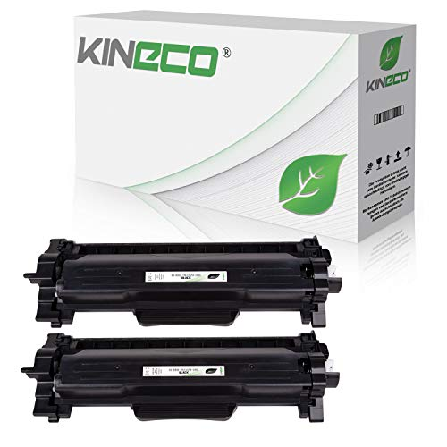Kineco 2 Toner XXL ersetzt Brother TN2420 TN2410 Doppelpack 2X 6.000 Seiten für Brother HL-L2350DW HL-L2370DN HL-L2375DW HL-L2310D MFC-L2710DW