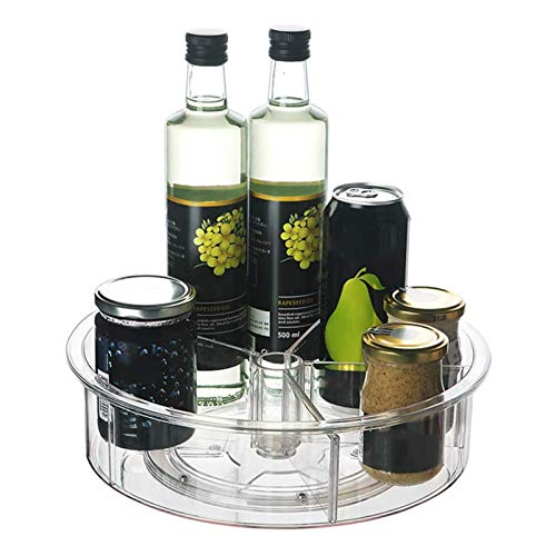 Favorall - Recipiente para almacenamiento de especias para plato giratorio (5 compartimentos para té, edulcorantes y más, 30,5 cm de diámetro)
