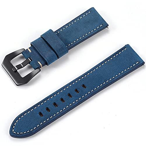 DALIANMAO Strap de Banda de Reloj de Cuero de Grano: liberación rápida: elección de Ancho - 20mm, 22 mmwatch Accesorios (Band Color : Ralap 2, Band Width : 24mm)