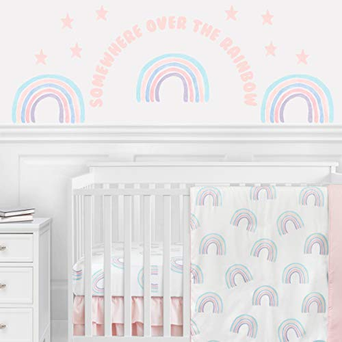 Sweet Jojo Designs Pastel Rainbow Large Peel and Stick Wall Decal Stickers...